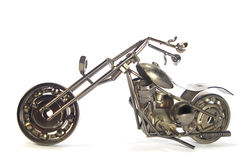 Handmade metal motorcycle Stock Photography