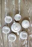 Handmade mini tea set Stock Images