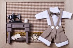Handmade miniature room Royalty Free Stock Image