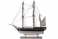 Handmade model. Beautiful Handmade model of Bounty isolated on white background.  royalty free stock image