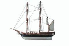 Handmade model. Beautiful Handmade model of Bounty isolated on white background.  stock photos