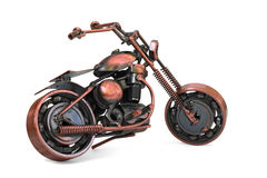 Handmade model of custom motorcycle Royalty Free Stock Images