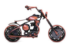 Handmade model of custom motorcycle Stock Photo