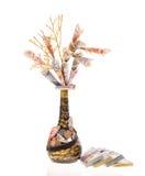 Handmade money tree Stock Image