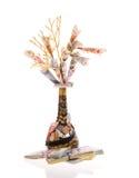 Handmade money tree Royalty Free Stock Photo