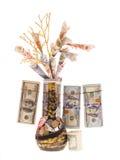 Handmade money tree Royalty Free Stock Photos