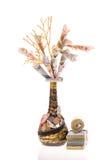 Handmade money tree Stock Images