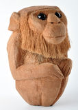 Handmade monkey. A monkey made by dry coconut Stock Images