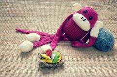 Handmade, monkey, happy new year 2016, funny animal Stock Photography