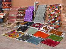 Handmade Moroccan carpets royalty free stock images