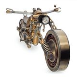 Handmade motorcycle, chopper, cruiser composed of metal parts, b. Handmade motorcycle, chopper, cruiser made of metal parts, bearings, screwdrivers, motor Stock Photography