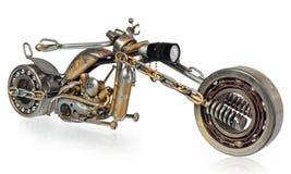 Handmade motorcycle, chopper, cruiser composed of metal parts, b. Handmade motorcycle, chopper, cruiser made of metal parts, bearings, screwdrivers, motor Stock Image