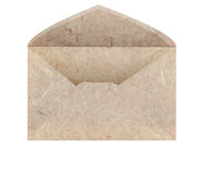 Handmade mulberry paper envelope Stock Photos