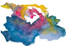 Handmade multicolor watercolor abstract Stock Photo