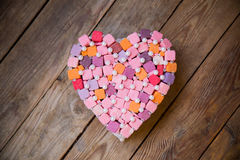 Handmade  multicolored heart Royalty Free Stock Image