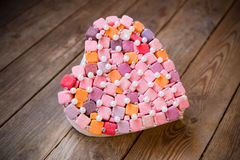 Handmade  multicolored heart Royalty Free Stock Photography