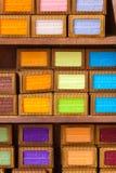 Handmade mydło w piękno sklepie w Provence Francja obrazy royalty free