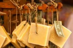 Handmade mydło w piękno sklepie w Provence Francja Obraz Royalty Free