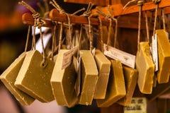 Handmade mydło w piękno sklepie w Provence Francja Zdjęcie Royalty Free