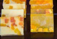 Handmade mydlany zakończenie na odpierającym rynku Obraz Royalty Free