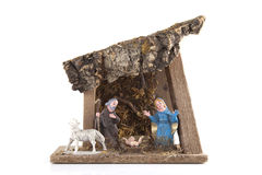 Handmade nativity royalty free stock image