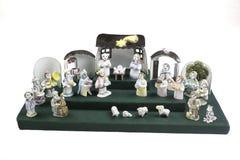 Handmade Nativity scene Stock Photo