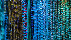 Handmade natural beads necklace Royalty Free Stock Photos