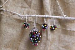 Free Handmade Natural Christmas Ornaments Stock Images - 132298084
