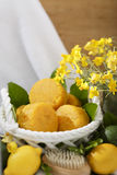 Handmade Natural Citrus Scented Yellow Soap Spa Set Stock Photography