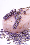 Handmade natural lavender soap Royalty Free Stock Image