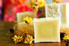 Handmade naturalni zimno procesu mydła Fotografia Stock