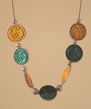 Handmade necklace Royalty Free Stock Images