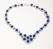 Handmade necklace with swarovski crystals  Royalty Free Stock Images