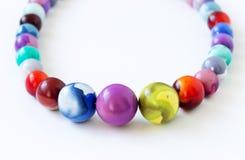 Handmade necklace on white background Stock Image