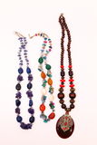 Handmade Necklaces Royalty Free Stock Images