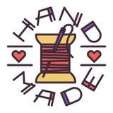 Handmade needlework badge logo vector Royalty Free Stock Photo