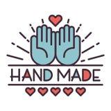 Handmade needlework badge logo vector Stock Photography