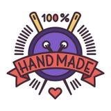 Handmade needlework badge logo vector Royalty Free Stock Photography