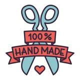Handmade needlework badge logo vector Royalty Free Stock Image