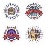 Handmade needlework badge logo vector Royalty Free Stock Images