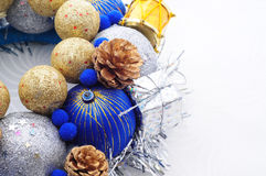 Handmade New Year Ornament Royalty Free Stock Photography
