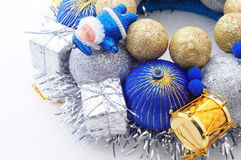 Handmade New Year Ornament Royalty Free Stock Photos