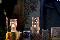 Handmade Night lamps Royalty Free Stock Photo