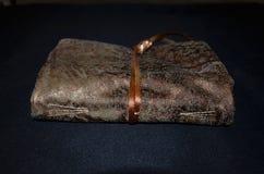 Handmade notatnik w miękkiej tkaniny pokrywie, frontowy widok Obrazy Stock