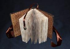 Handmade notatnik w miękkiej tkaniny pokrywie, frontowy widok Zdjęcia Stock