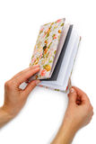 Handmade notebook with horseshoe bookmark Stock Photography