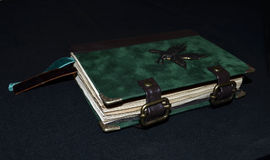 Handmade notebook looking ancient, side view Royalty Free Stock Photos