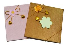 Handmade notebooks Royalty Free Stock Image