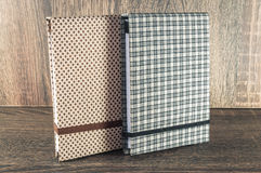 Handmade notepad decorated with fabric used for writing reminders of your life or business Royalty Free Stock Images