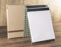 Handmade notepad decorated with fabric used for writing reminders of your life or business Royalty Free Stock Image